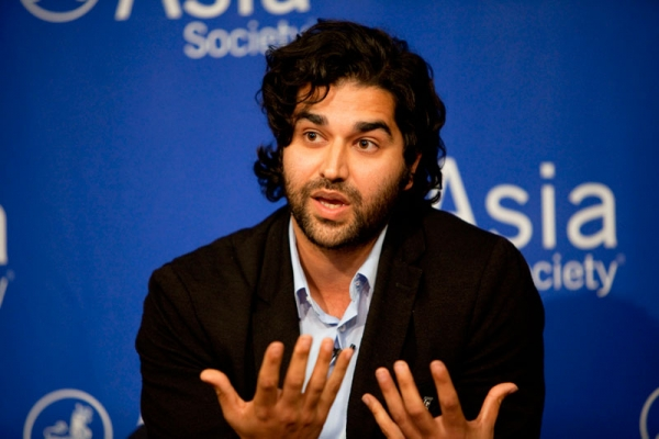 Mohsin Din at the Asia Society New York on Oct. 17, 2011. (Noah McLaurine)