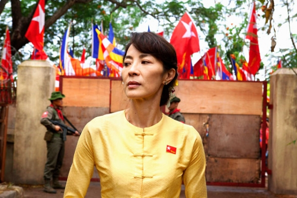 Michelle Yeoh stars as Aung San Suu Kyi in Luc Besson's The Lady (2011). (Cohen Media Group)