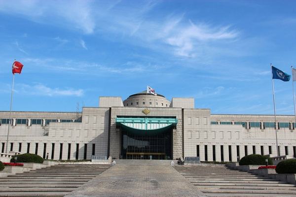 Located in Seoul, the War Memorial of Korea was opened in 1994 on the former site of Korean Army headquarters. (Wilson Loo/Flickr)