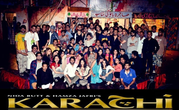 Promotional photo for Karachi: The Musical, directed and produced by Nida Butt in fall 2011.
