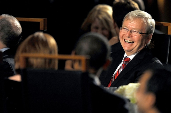 Will Australia's Kevin Rudd have the last laugh? (Alan Porritt/Pool/Getty Images)
