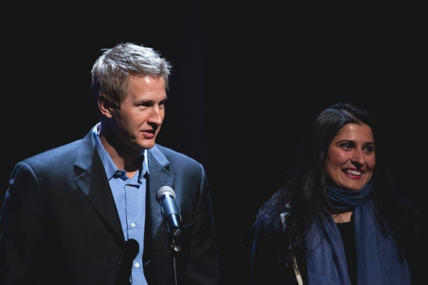 Daniel Junge (L) and Sharmeen Obaid-Chinoy. (Suzanna Finley)