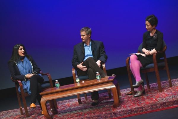 L to R: Sharmeen Obaid-Chinoy, Daniel Junge and La Frances Hui. (Suzanna Finley)