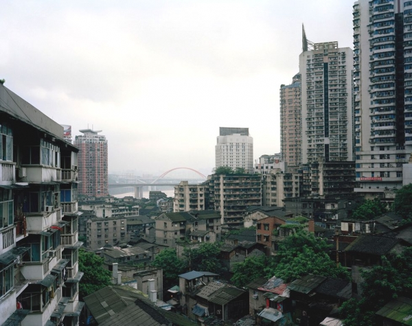 Shibati, a slum area in central Chongqing, which used to be famous for its well-preserved traditional lifestyles. The whole area has now been demolished. (Bo Wang)