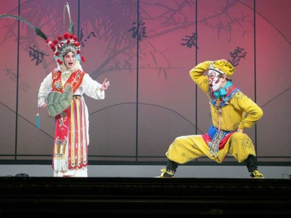 Members of the Shanghai Kunqu Opera Troupe perform 'The Monkey King: Journey to the West.'