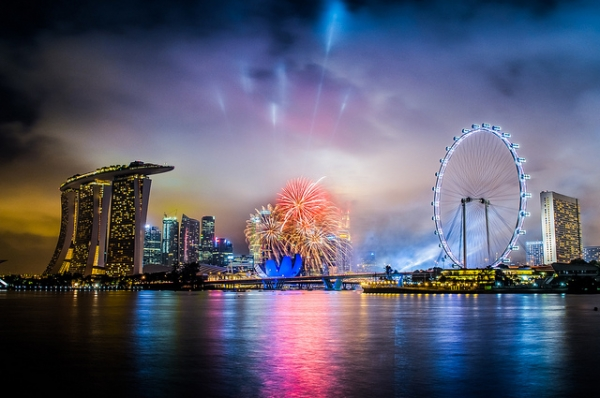 Singapore getting ready for National Day on August 9 with trial runs of its fireworks and lights. (acdovier/Flickr)