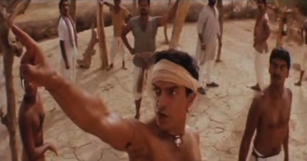Aamir Khan in a scene from the Oscar-nominated movie 'Lagaan' (2001).