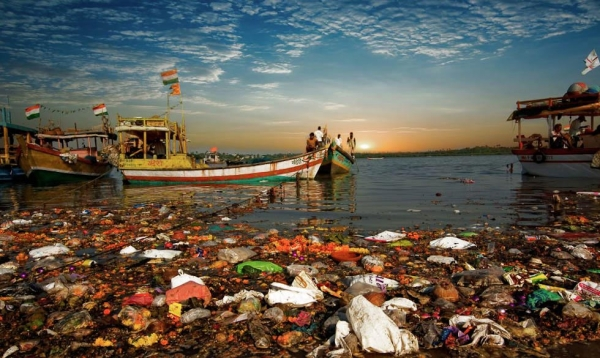 A view of Manori creek after the Navratri (None Nights) Festival.  (Jonathan Raa)