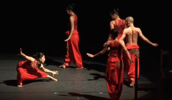 Indonesian dance troupe Nan Jombang performing 'Rantau Berbisik.' (http://youtu.be/Yr5o5TxxL3k)