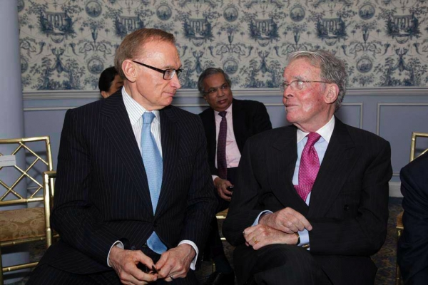 Bob Carr and Bill McDonough, Former President of the Federal Reserve Bank of New York. (Brian Stanton)