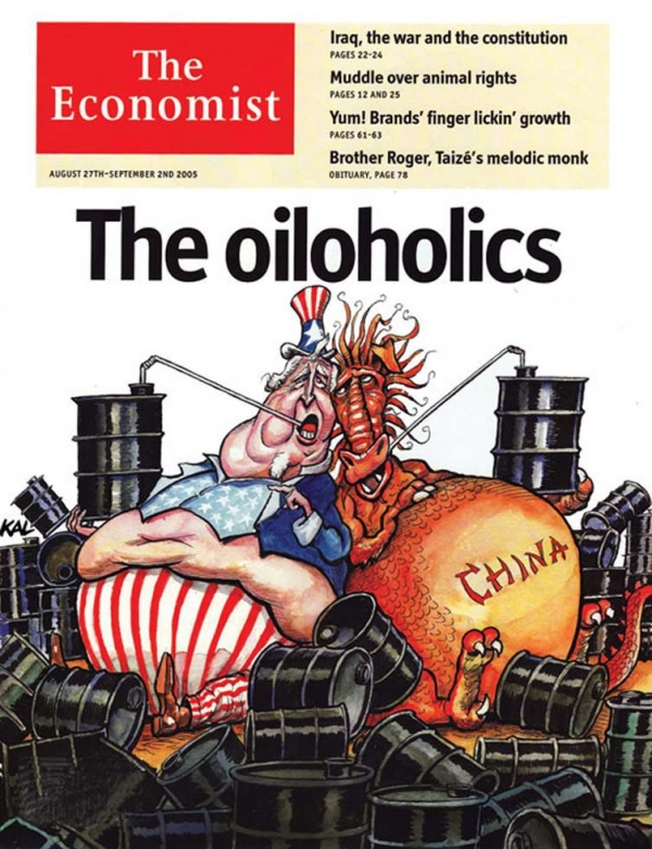 Kallaugher has produced several thousand cartoons and more than 100 covers for The Economist since 1978. (KAL)