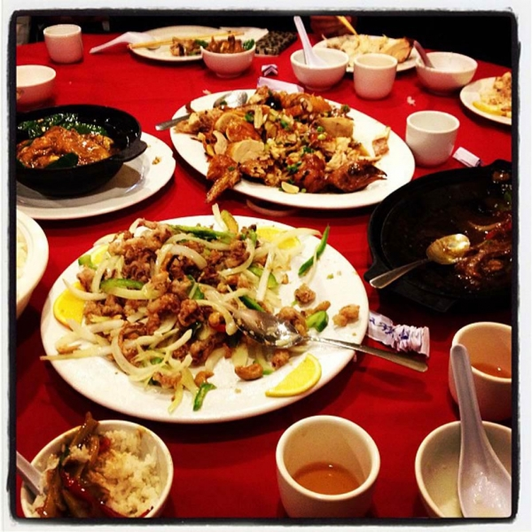 "26. ""Lunar new year dinner."" (hungryeditor)"