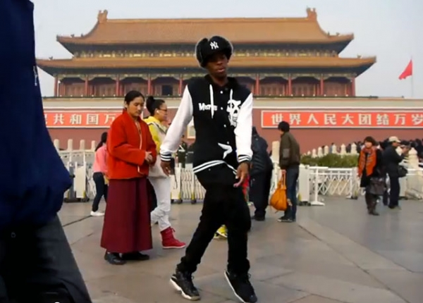 "Filmmaker Ole Schell documented performances by Charles ""Lil Buck"" Riley, above, in Beijing at the inaugural U.S.-China Forum on the Arts and Culture in November 2011."