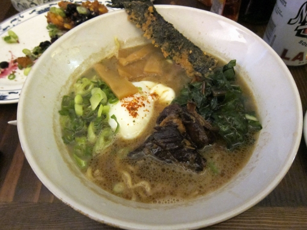 Lamb ramen, a specialty of Dassara Ramen in Brooklyn, NY. (Keizo Shimamoto)