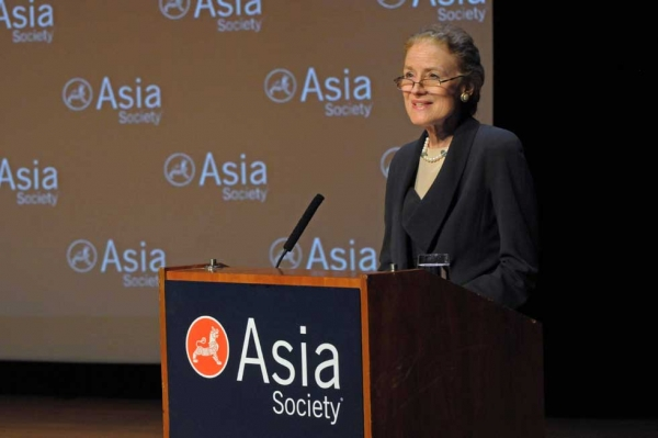 Asia Society Co-Chair Henrietta H. Fore introduced the program at Asia Society New York on March 11, 2013. (Elsa Ruiz/Asia Society)