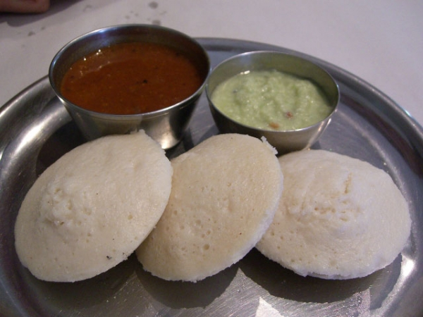 Idli with sambar and chutney. (avlxyz/Flickr)