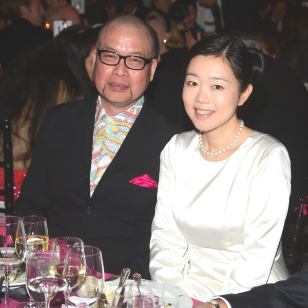 Richard Tsao (L) and Mariko Mori. (Joe Schildhorn/BFAnyc.com)