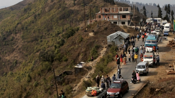 The unusual road drama centers around an ill-fated journey on a highway from eastern Nepal to Kathmandu, the nation's capital.  (AADI Films)