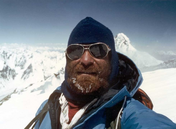 Nazir Sabir on K2, the second-highest mountain in the world, in northern Pakistan's Karakoram range. (Nazir Sabir)