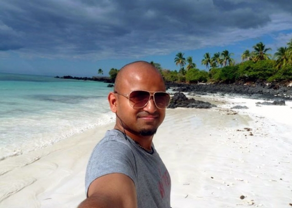 Skift.com founder and CEO Rafat Ali in the Comoros Islands, off the east coast of Africa, in 2011. (Rafat Ali)