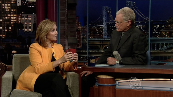 UN World Food Programme Executive Director Josette Sheeran appearing on Late Show With David Letterman on September 30, 2008.