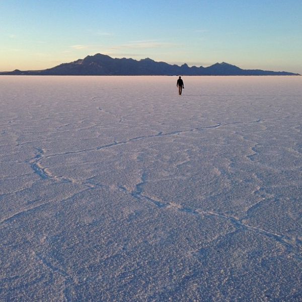 """This was taken at the Bonneville Salt Flats in Utah on the last evening of our recent cross-country road trip. It was my favorite stop on the entire trip and the light, weather, and setting were absolutely perfect."" (Pei Ketron)"