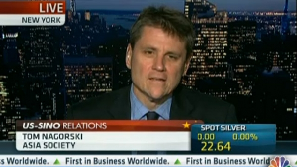 Asia Society Executive Vice President Tom Nagorski on CNBC this morning.