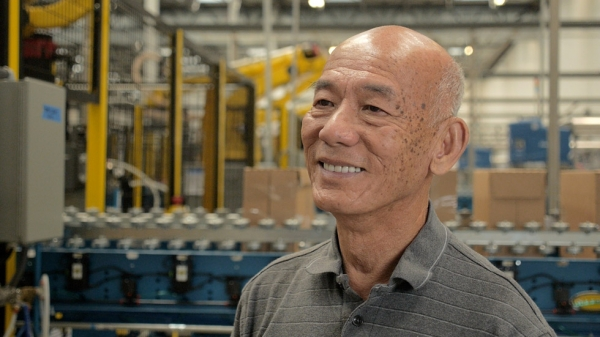 David Tran, founder of Huy Fong Foods, which supplies the popular version of Sriracha in the U.S. An ethnic Chinese Vietnamese farmer who had grown chili peppers and produced and sold chili sauce near Saigon, he arrived in the U.S. in 1980 following the Vietnam War. (Griffin Hammond)