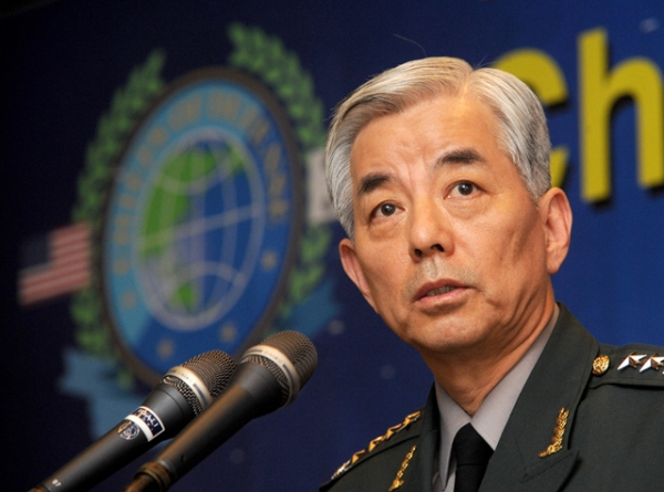 South Korean General Min-Koo Han delivers a speech during the 13th Asia-Pacific Chief of Defense Meeting (CHOD) press conference in Seoul in October, 2010. (Park Ji-Hwan/AFP/Getty Images)