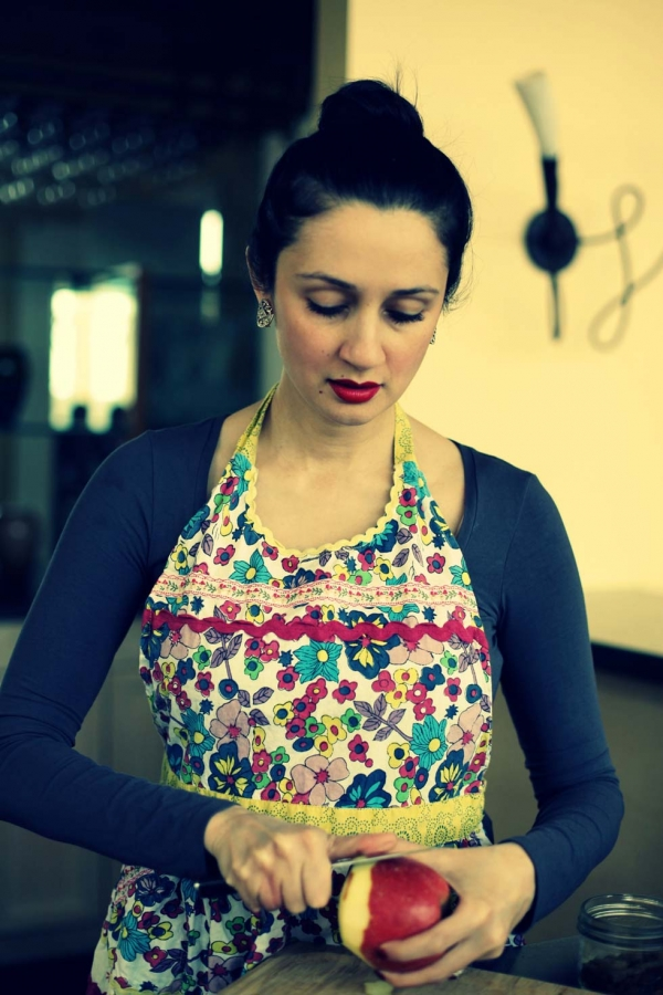 Saadat preparing a meal in her Toronto kitchen. (Shayma Saadat)