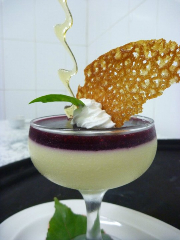 Basil Panna Cotta infused with Fijian-grown herbal basil. (lanceseeto.com)