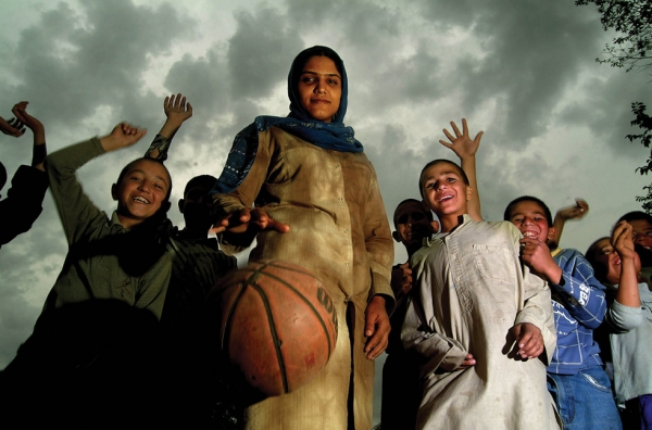 Kabul, 2005: At 24 Sabrina Sagheb, secretary of the Afghan Basketball Commission, was the youngest woman to contest a seat in the Afghan Parliament, where she currently holds a seat. (Veronique de Viguerie/Getty Images)