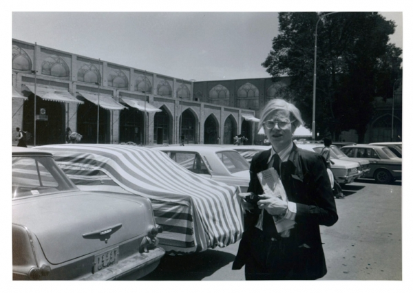 Andy Warhol in Isfahan, Iran, in 1976. (Bob Colacello)