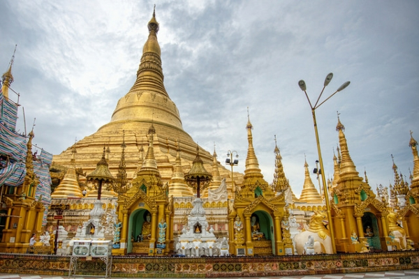 The Shwedagon Pagoda, also known as the Golden Pagoda, is a majestic landmark and continues to be a popular tourist destination in Yangon, Myanmar. (Eugene Phoen/Flickr)