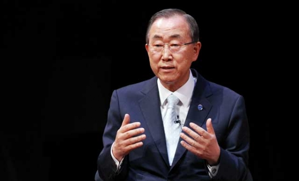 United Nations Secretary-General Ban Ki-moon at Asia Society New York on June 20, 2014. (Ellen Wallop/Asia Society)