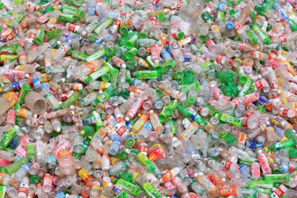Empty plastic bottles in China. (Carsten ten Brink/Flickr)