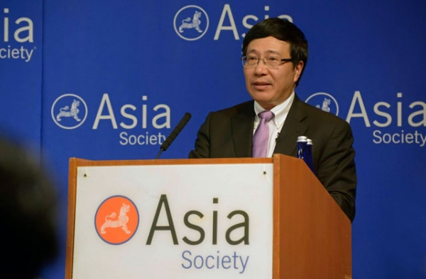 Deputy Prime Minister and Foreign Minister of Vietnam Pham Binh Minh at Asia Society New York on September 24, 2014. (Elsa Ruiz/Asia Society)