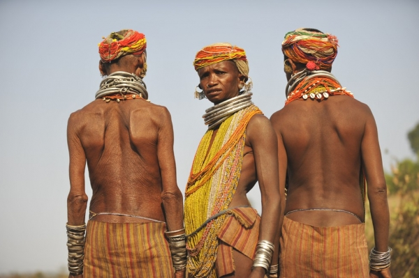 Bonda tribal women in the state of Orissa. (Tom Carter)