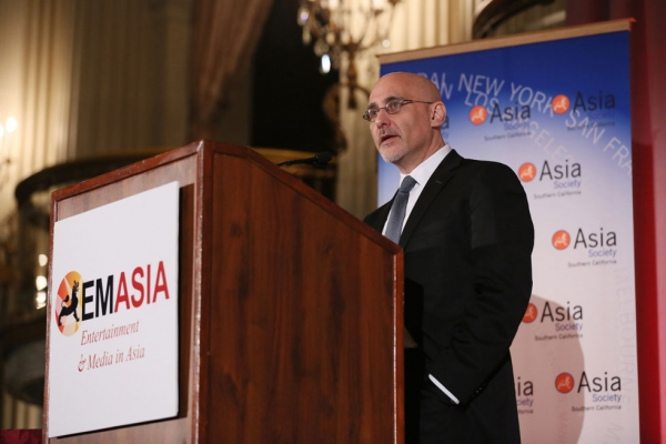 Studio 8 founder and CEO Jeff Robinov speaks at the 2014 Asia Society U.S.-China Film Summit and Gala, held at the Millennium Biltmore Hotel in Los Angeles on Nov. 5, 2014. (Ryan Miller/Capture Imaging)