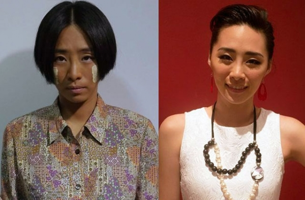 Actress We Ke Xi, in character (L) and out (R). (Courtesy We Ke Xi)