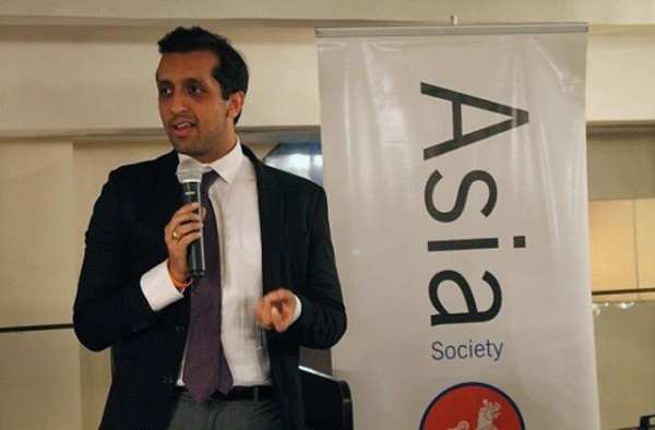 India and Southeast Asia Market Director for Twitter Rishi Jaitly speaking in Mumbai on January 29, 2015. (Asia Society India Centre)
