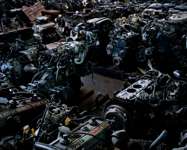The Bayintnaung secondhand car parts market in the Insein district of Yangon.  (Andrew Rowat)