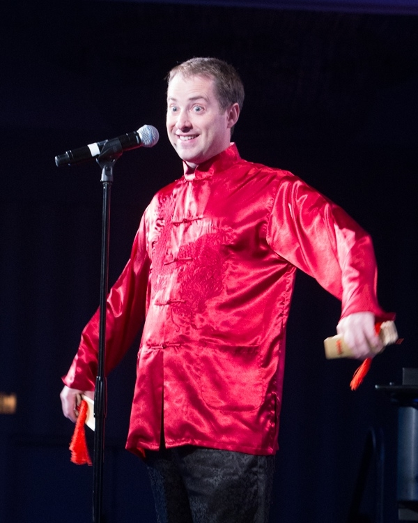 Comedian Nicholas Angiers from Revolution Chinese performed kuaiban at the opening dinner and plenary (Ben Kornegay/ProgressiveImagesPhoto).