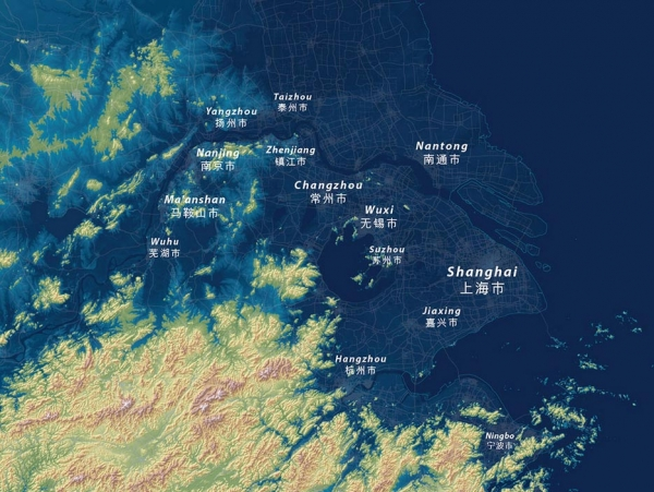 Shanghai would be completely underwater if all of the ice melts, and ocean water would reach miles up the Yangtze river.