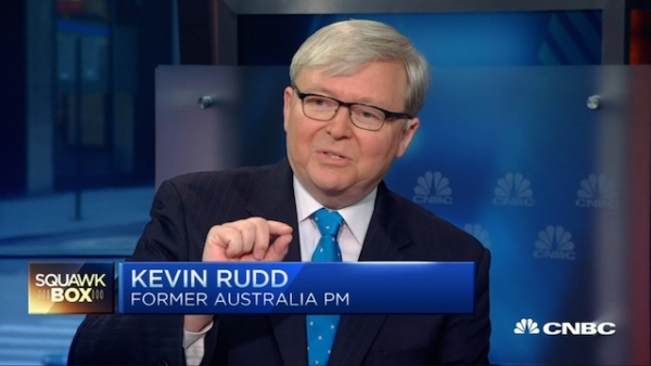 "Kevin Rudd joined CNBC's ""Squawk Box"" to discuss China's recent stock market turmoil (CNBC)"