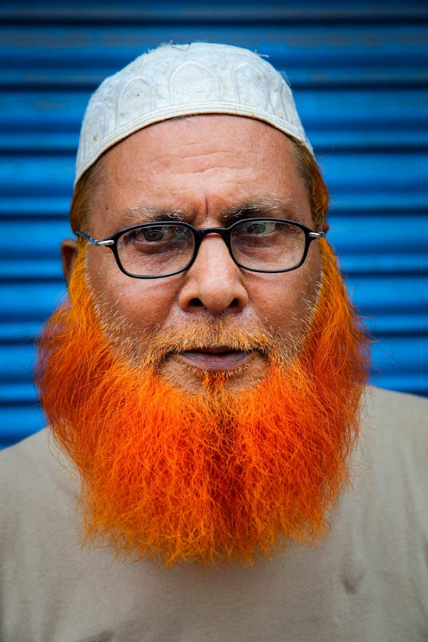 """It's our Sunnat. Our Prophet Muhammad used it."" Gias Uddin on why he henna-dyed his beard. (GMB Akash)"
