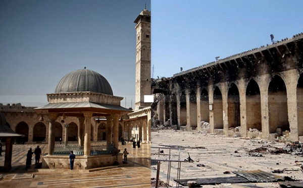Umayyad Mosque in Aleppo, Syria. (Aleppo Media Center/Antiquities Coalition)
