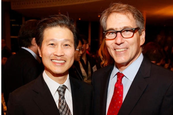 From left, Dominic Ng, chairman and CEO, East West Bancorp, and Jonathan Karp, executive director, Asia Society Southern California pose during the 2015 Asia Society U.S.-China Film Summit and Gala held at the Dorthy Chandler Pavilion on Thursday, November 5, 2015, in Los Angeles, Calif. (Ryan Miller/Capture Imaging)