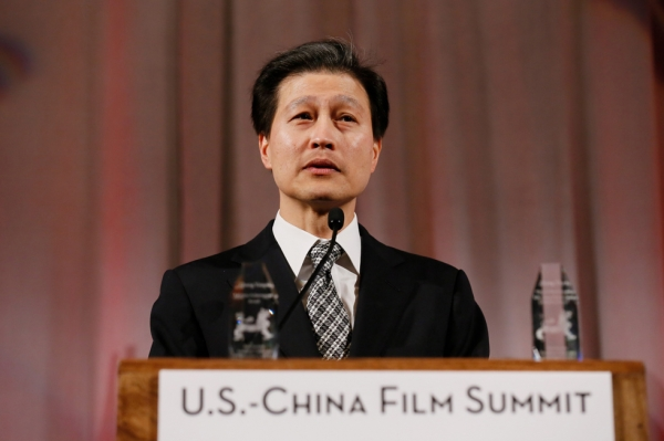 Dominic Ng, chairman and CEO, East West Bancorp speaks during the 2015 Asia Society U.S.-China Film Summit and Gala held at the Dorthy Chandler Pavilion on Thursday, November 5, 2015, in Los Angeles, Calif. (Ryan Miller/Capture Imaging)