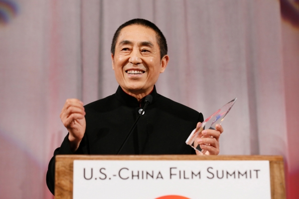 Zhang Yimou, director, receives the Lifetime Achievement Award during the 2015 Asia Society U.S.-China Film Summit and Gala held at the Dorthy Chandler Pavilion on Thursday, November 5, 2015, in Los Angeles, Calif. (Photo by Ryan Miller/Capture Imaging)